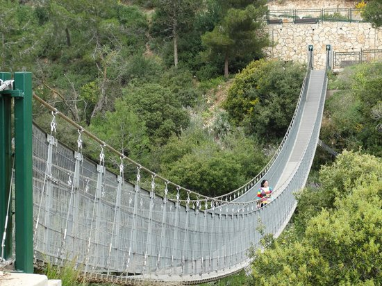 Beit Oren, Israel: pont suspendu a Nesher