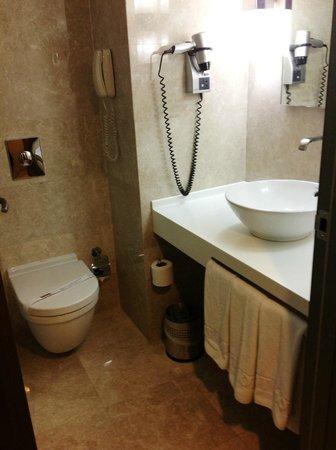 Kent Hotel : Baño pequeño, pero correcto