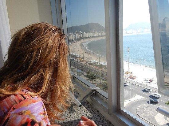 Orla Copacabana Hotel: Copacabana beach from room