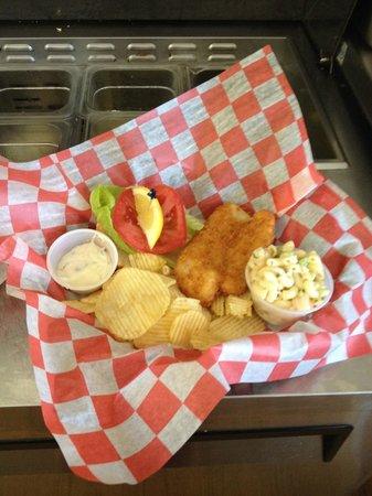 Crab Shack: Panko mahi sandwich