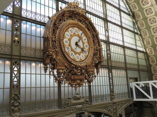 Musée d'Orsay : Beautiful inside clock