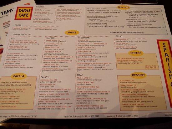 Tapas Cafe : plenty of choice