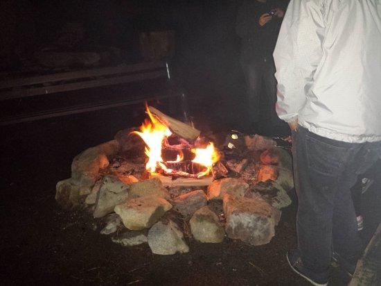 Montecito Sequoia Lodge: fire with marshmallows