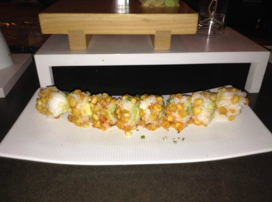 Katsuya: Corn crunch sushi wrap