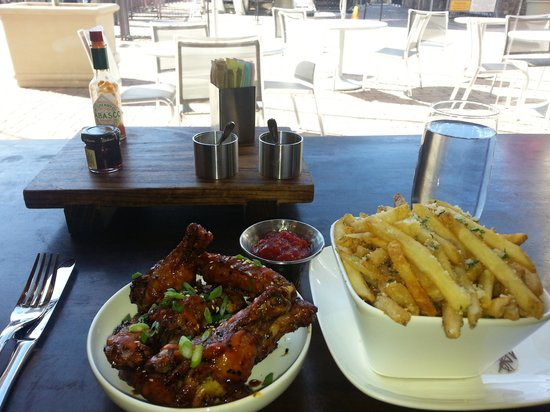 Lift: Wings and Truffle Fries were yummy!