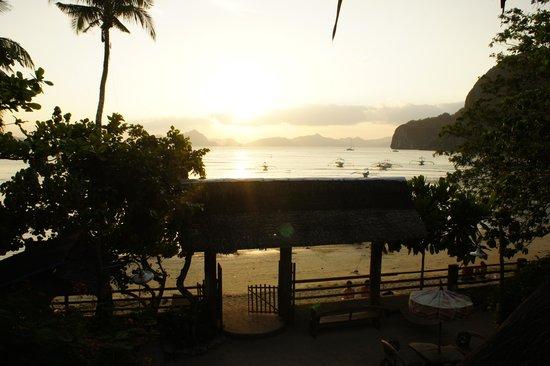 Greenviews Resort Corong-Corong: vue depuis le 1er étage (restaurant)