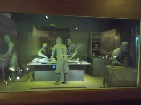 Unit 731 Museum: 粘土細工..展示物(解剖)