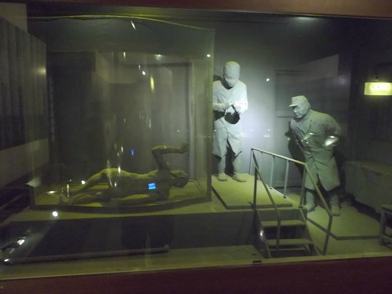 Unit 731 Museum: 粘土細工..展示物(減圧実験)