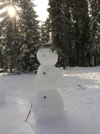Montecito Sequoia Lodge: Snow Woman:) Kids had so much fun making this.
