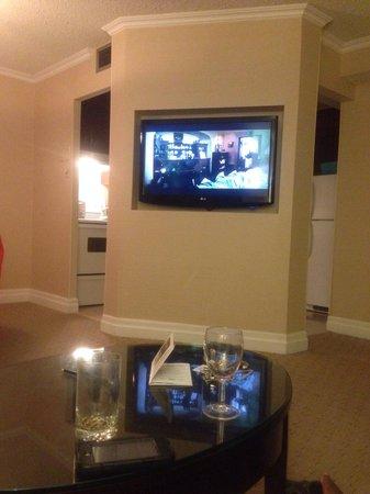 Albert at Bay Suite Hotel: Mega grosse Tv plasma!