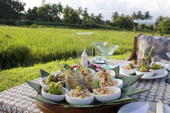 Amanjiwo Resorts : Sunset starters