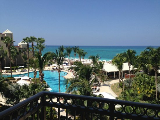 The Ritz-Carlton, Grand Cayman: View from balcony 4th floor beach front