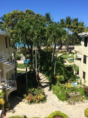 Cabarete Palm Beach Condos: The view from our 3rd floor studio room