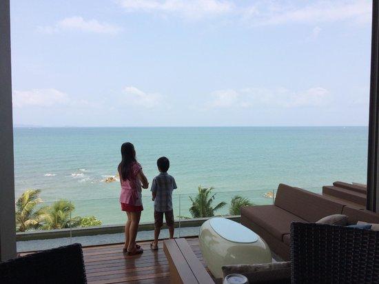Cape Dara Resort: วิวจากห้องอาหารเช้า