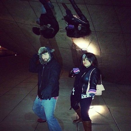 Cloud Gate: The wife and I Clowning Around