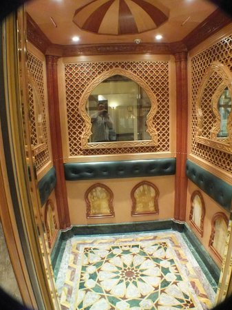 Grand Hyatt Muscat: Inside of the lift...say no more!