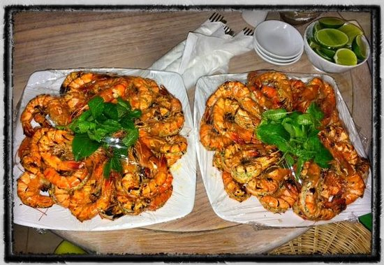 Villa Aria Muine: Shrimp Galore!!!  Just LOVELY!