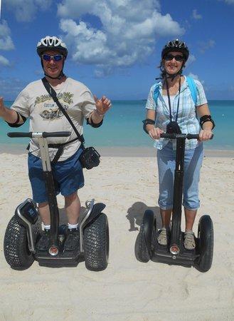 Segway Antigua Tours: A stop on the beach