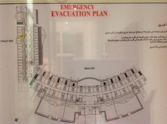 Al Raha Beach Hotel : al raha hotel layout. new wing on the left.