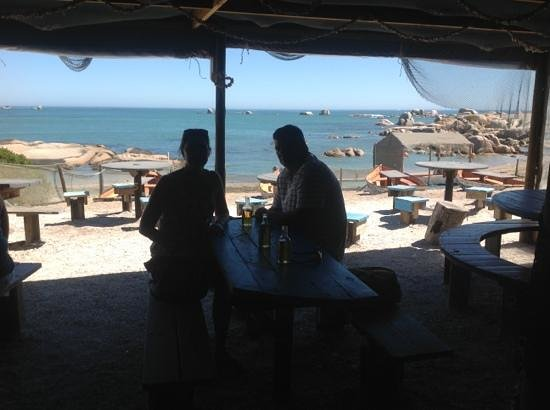 Seekombuis: looking out from the restaurant, stunning
