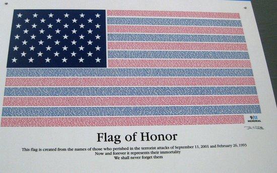 National September 11 Memorial und Museum: Flag of Honor