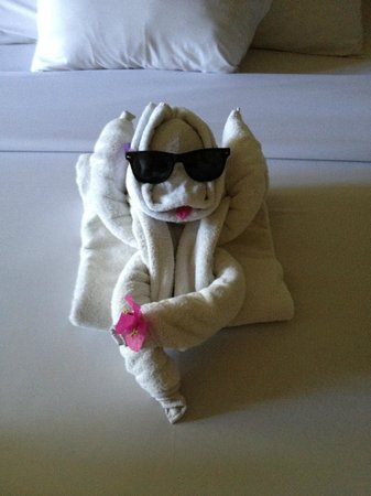Febri's Hotel & Spa : My daughter loved the towel creatures, and there was an extra special one on our last day!