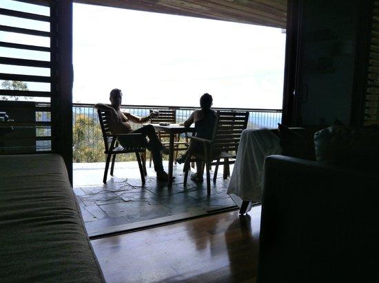 Binna Burra Mountain Lodge: The private deck