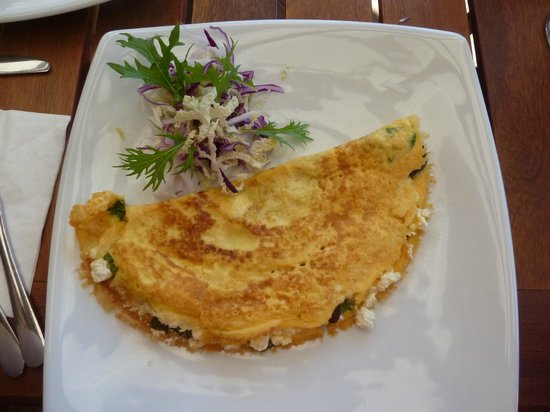 The Bushfood Factory and Cafe : Such a pretty omelette!