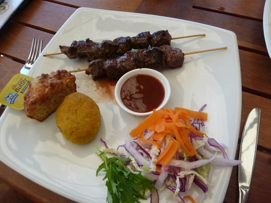 The Bushfood Factory and Cafe : Roo Kebabs