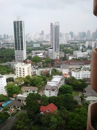 Pantip Suites Sathorn: view from our balcony (22nd floor)
