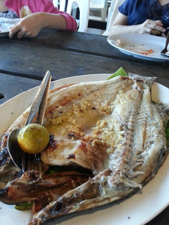 Bert's Garden Seafood Medan Ikan Bakar Batang Tiga: Grilled Siakap Fish