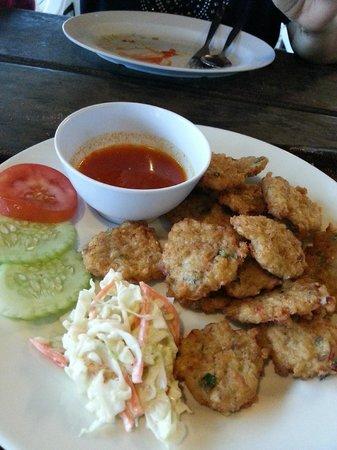 Bert's Garden Seafood Medan Ikan Bakar Batang Tiga: Local Snack