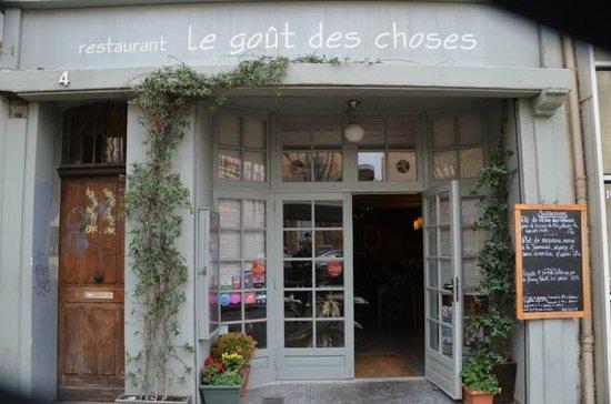 Le Goût des Choses : Façade du restaurant