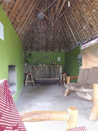 Broadbill Forest Camp : Bar and Lounge with fireplace