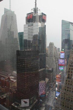 New York Marriott Marquis: Vue de la chambre du 40 ème étage