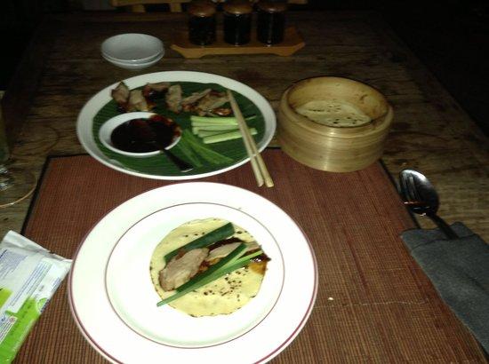 Ginger Moon Canteen: Peking Duck Pancakes - very delicious!