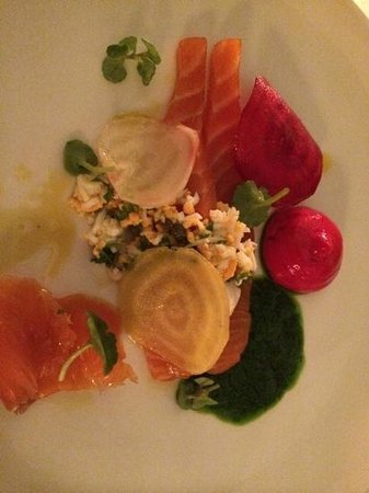 Wild Honey: salmon starter, march 2014