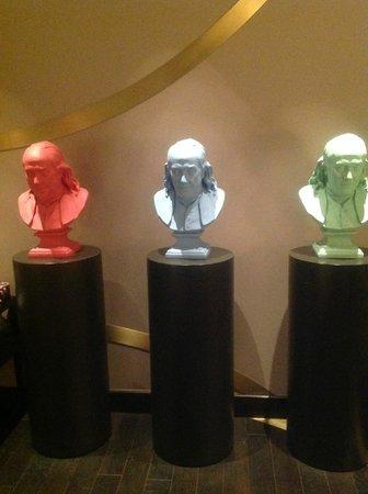 Kimpton Hotel Palomar Philadelphia : A trio of Ben's in the artsy lobby at Hotel Palomar.