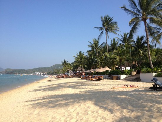 Bo Phut Resort & Spa : Beach in front of the hotel garden