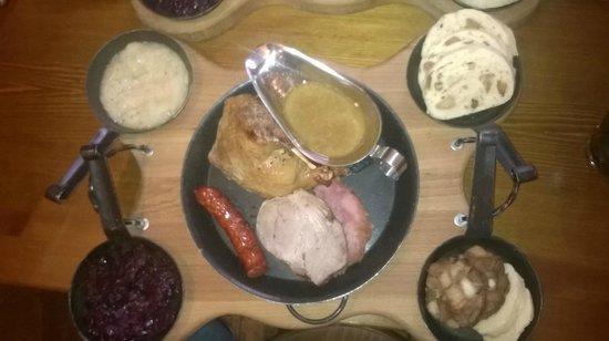 Svejk Restaurant U Karla: Baloun's plate