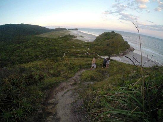 Ilha do Mel, PR: Descida do Morro do Sabão