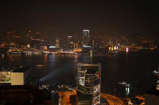 Conrad Hong Kong: Harbour View Suite Night Views