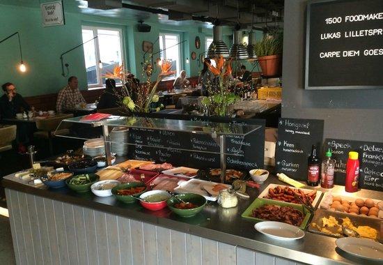 25hours Hotel beim MuseumsQuartier: Desayuno buffet