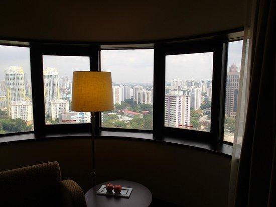 Holiday Inn Singapore Atrium: 24階からの眺望