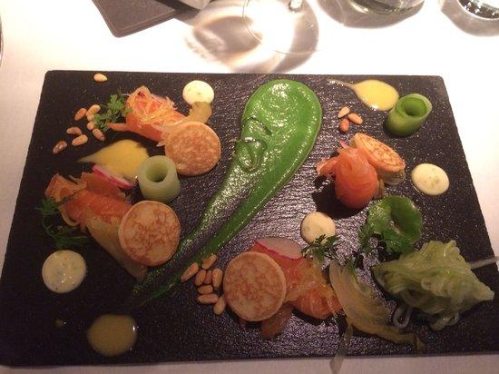 Oysters Restaurant : Early bird Salmon starter