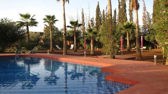 Riad Lebakoua: Clean pool and lovely garden