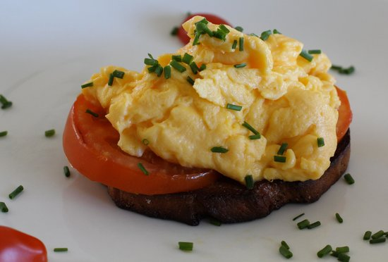 Cliff Lodge: Delicious scrambled egg