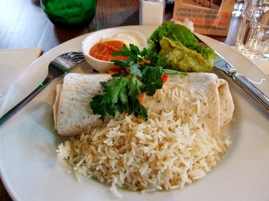 Las Iguanas - Exeter: Beef steak burrito
