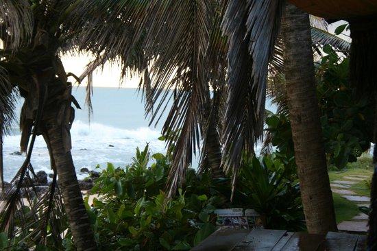 Pousada Paraiso das Tartarugas: Vista mientras se desayuna...