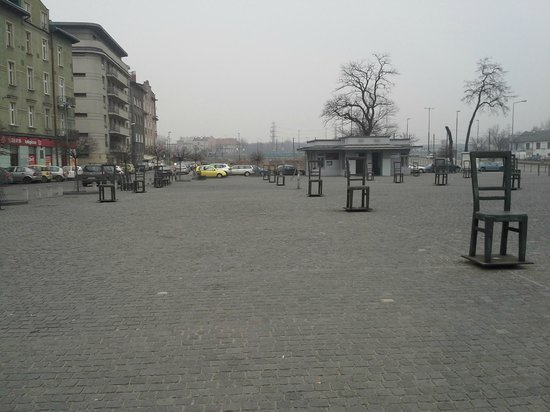 Qubus Hotel Krakow: Plac Bohaterow Getta. A place for reflection on the horrors of war. 2 mins walk from the hotel.